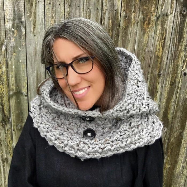 Dusk Hooded Cowl Crochet Pattern - KNITCRATE
