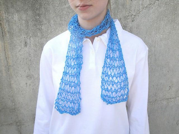 Easy Fishnet Scarf - KNITCRATE