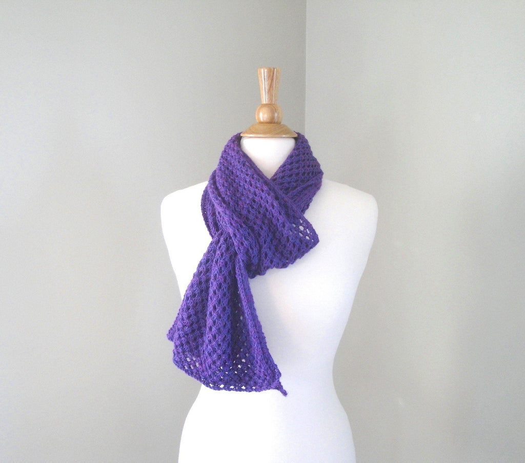 Easy Openwork Scarf - KNITCRATE