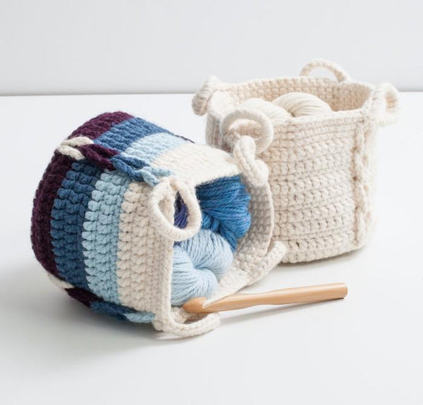 Entwined Basket Crochet Pattern - KNITCRATE