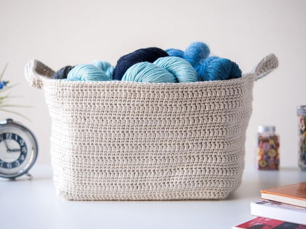 Essentials Basket Crochet Pattern - KNITCRATE