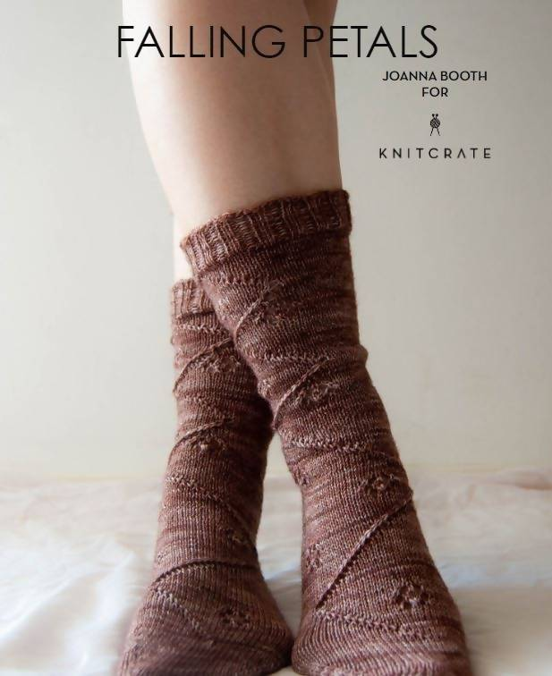 Falling Petals Socks - KNITCRATE