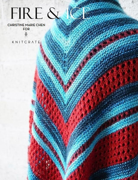 Fire & Ice Shawl Pattern by Christine Marie Chen