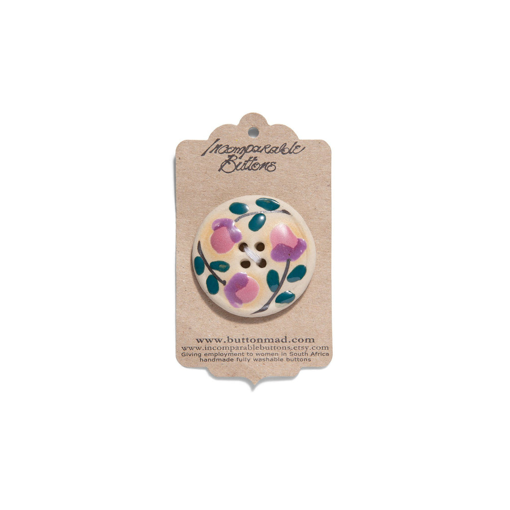 Flowery Ceramic Button