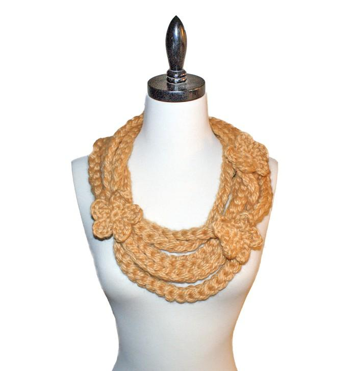 Golden Gate Necklace Scarf Crochet Pattern
