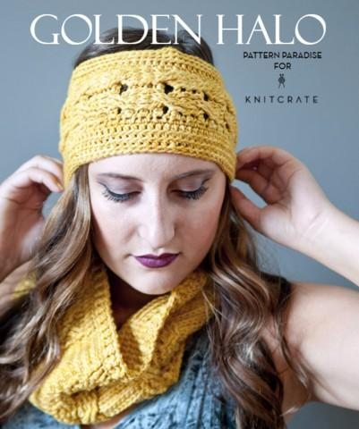Golden Halo Cowl & Headband