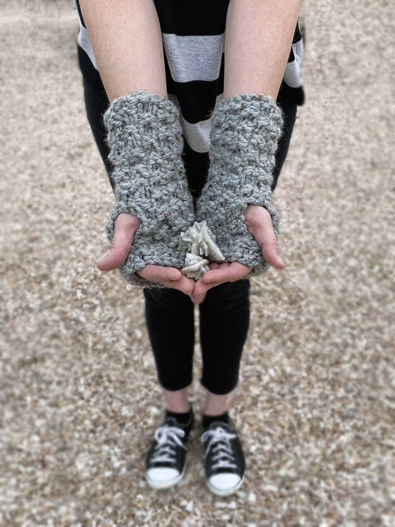 Granite Fingerless Gloves