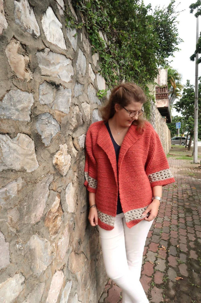 Hometown Chunky Cardigan Crochet Pattern
