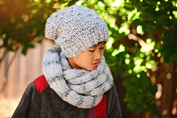 Knit Arctic Slouch Beanie & Infinity Scarf