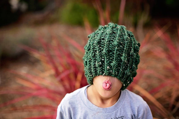 Knit Prickly Ribbed Beanie