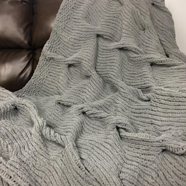 Lazy Cable Blanket Knit Pattern