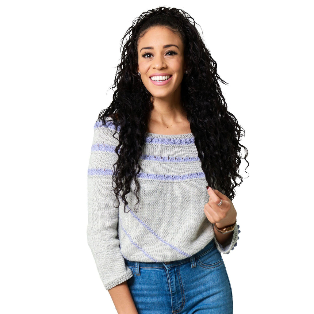 Limited Edition Lavender Purls Knit Pullover Sweater Kit