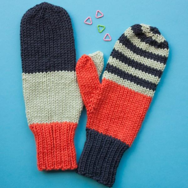 Miss Match Mittens PDF Knitting Pattern