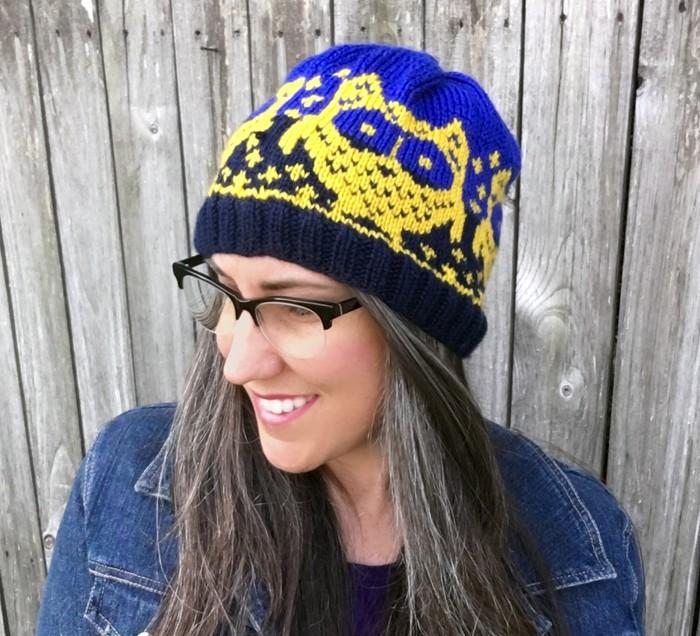 Owl Night Long Beanie Knit Pattern
