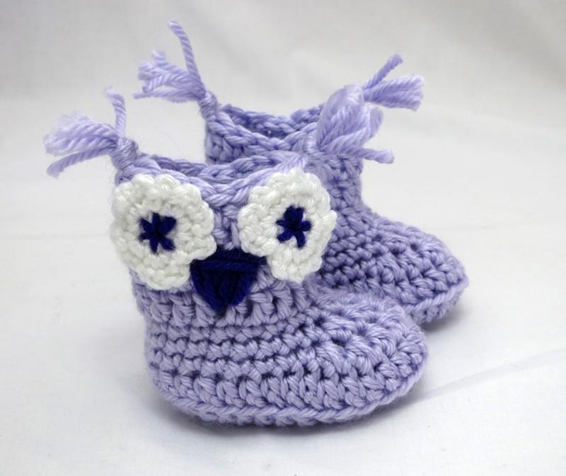 Owl Whooties Baby Booties And Beanie Gift Set Crochet Pattern