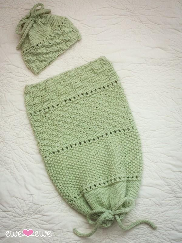 Pea in a Pod Papoose & Hat PDF Knitting Pattern