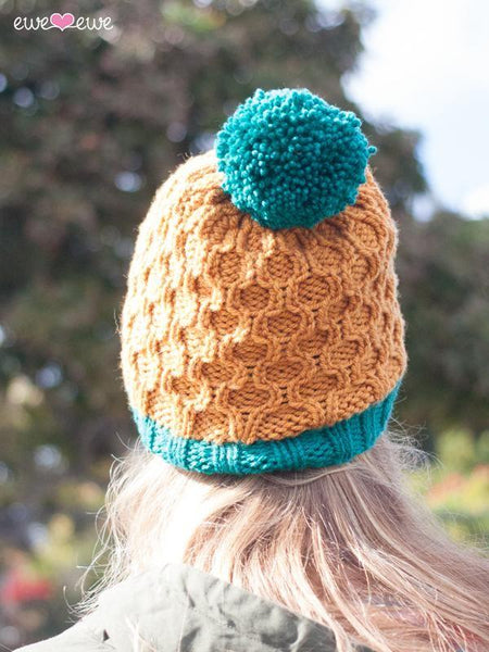 Pineapple Expressions PDF Cable Hat Knitting Pattern