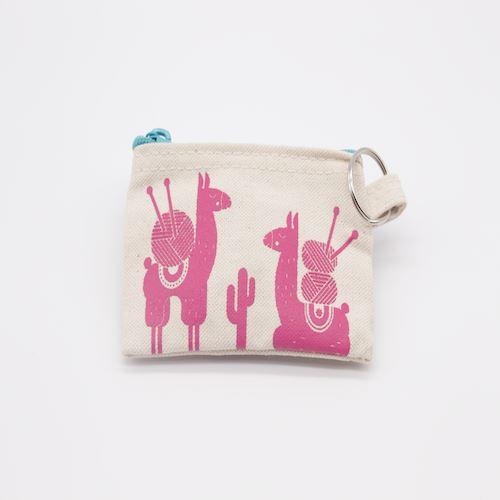 Pink Llama Small Notions Bag