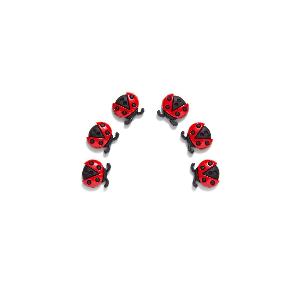 Sew Cute Ladybug Buttons (Pack of 6)
