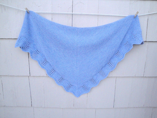 Shawl with Lace Edge