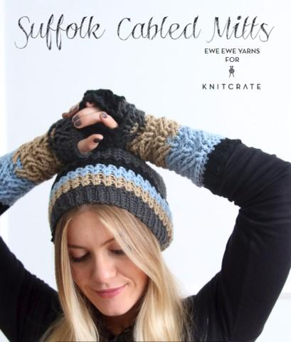 Suffolk Cabled Mitts