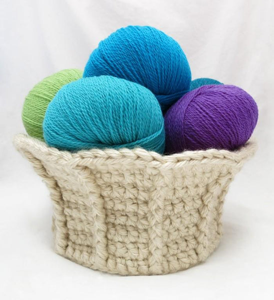 Trumpet Basket Crochet Pattern