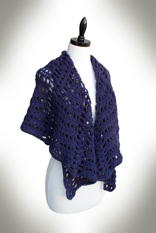 Twilight's Shadow Shawl Crochet Pattern