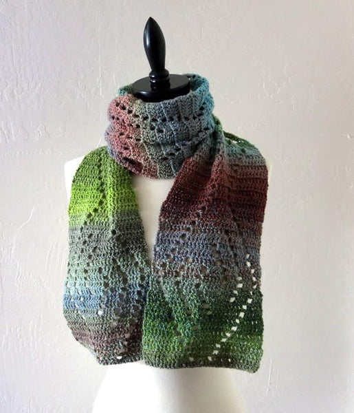 Wave Lace Scarf Crochet Pattern