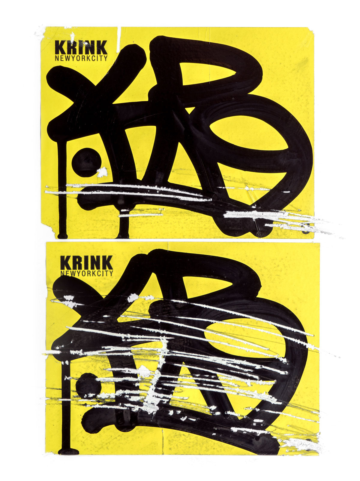 Krink Super Permanent Eggshell Stickers KR tags usage
