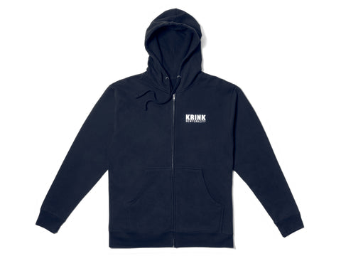 Navy Logo Zip Sweatshirt