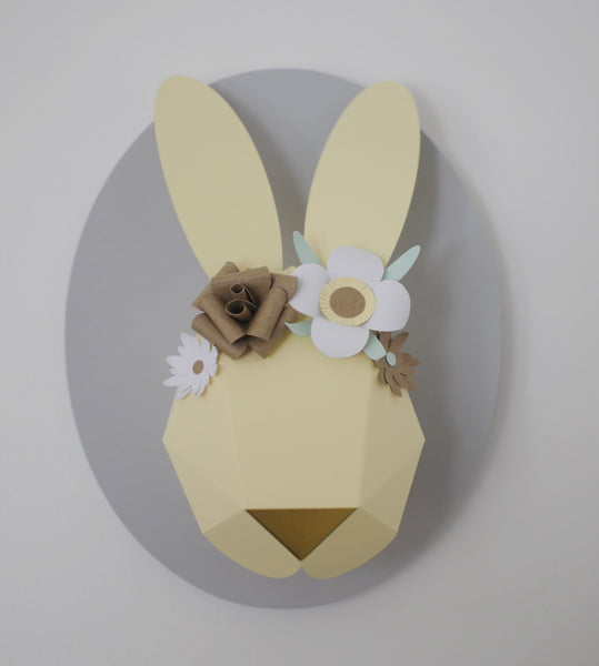 Customer ordered decorated bunny head (butter)
