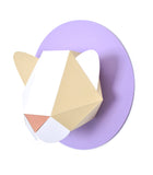 Paper Cat Kit (Wheat/White and Light Purple)