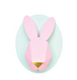 Paper Bunny Head Kit (Pink and Mint)