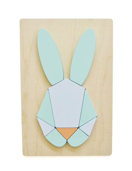 WOODEN BUNNY PUZZLE MINT