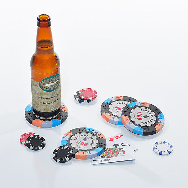 Poker chip drink coasters borderlands 2 poker night 2
