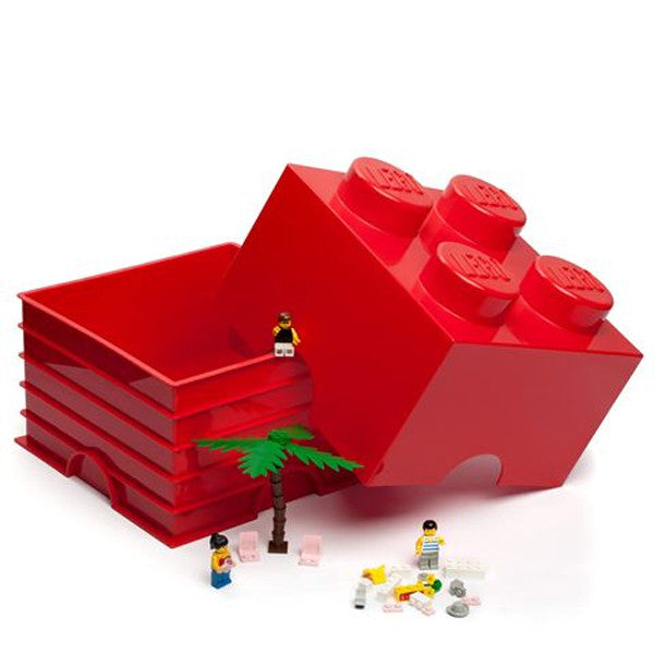 Red Lego Storage Block