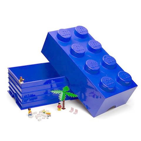 Blue Lego Storage Brick