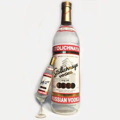Stoli Vodka Bottle