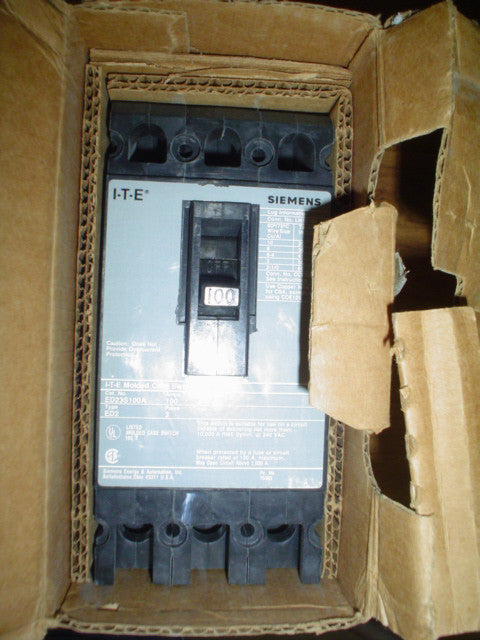 Siemens Circuit Breaker,CONTEMPO#50-228 Model:ED23S,100A,240V,3 Pole