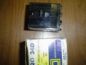 Square D Circuit Breaker, Model:QO 340, 240V,3 POLE