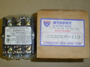 Interstate Electric Contactor CS30A3P-110