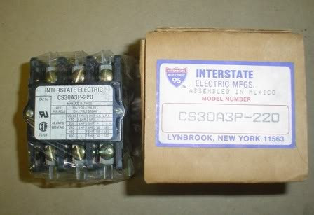 Interstate Electric Contactor CS30A3P-220