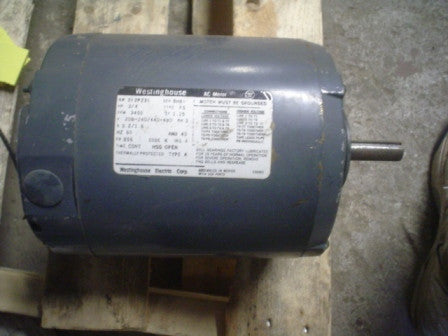 Motor Westinghouse 312P231  240/440-480V 3PH B56 HP .75 RPM 3450