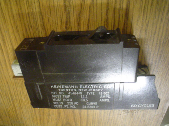 HEINEMANN Circuit Breaker, Model:41-694-W, 220V