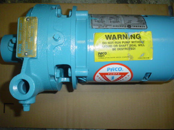 Pump Paco MTR: 5KC36JN269X 75501100061-1291 115/230, 1, 60 HP 0.5 RPM 3450