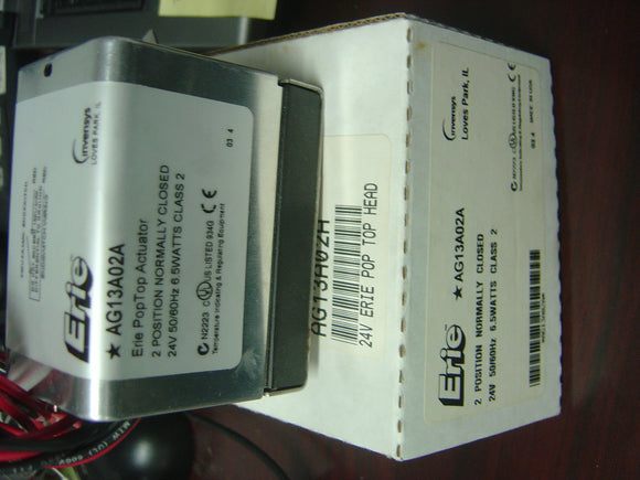 ERIE INVENSYS Actuator MODEL:AG13A02A,24V 6.5 WATTS 2POSITION