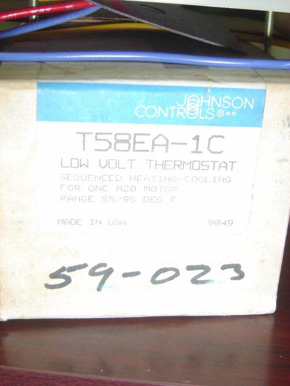 JOHNSON CONTROLS Low volt thermostat Model:T58EA-1C