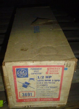 General Electric Motor Model:5KCP39PG50801T,115V,1PH,60Hz