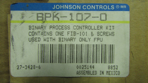 Johnson Controls BPK-107-0 Binary Process Controller Kit