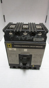 SQUARE D CIRCUIT BREAKER MODEL FAL34070 480V 3 POLE 70AMP